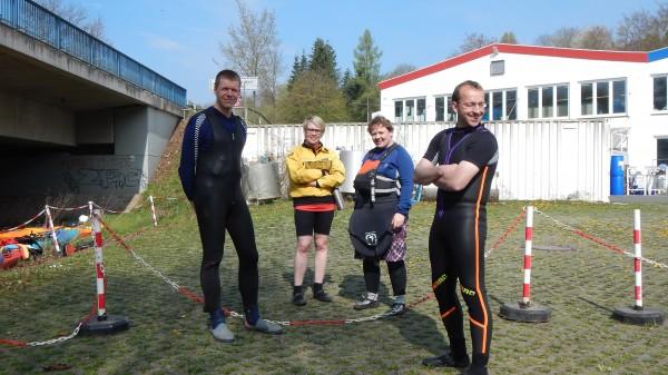 Bernd, Andrea, Nina und Günther in froher Erwartung, dass es los geht.
