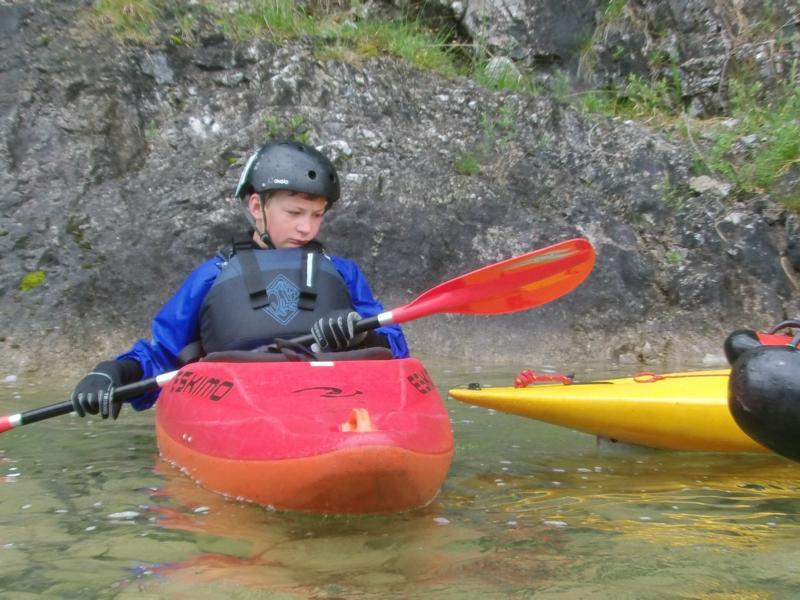 """Eigentlich ist es die fahrt für unsere jüngsten: """"Kanu Kids im Wildwasser"""""""