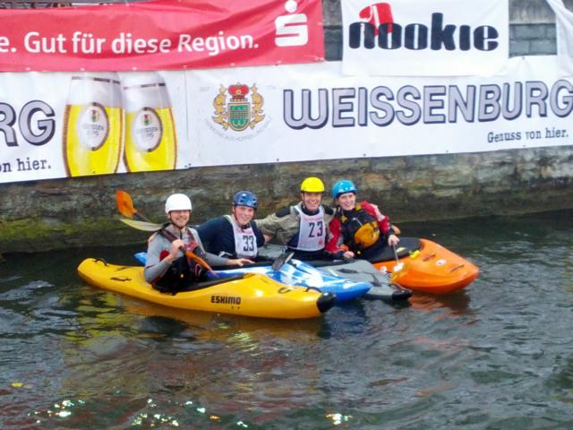 Nico, David, Robert und Luisa beim Boatercross