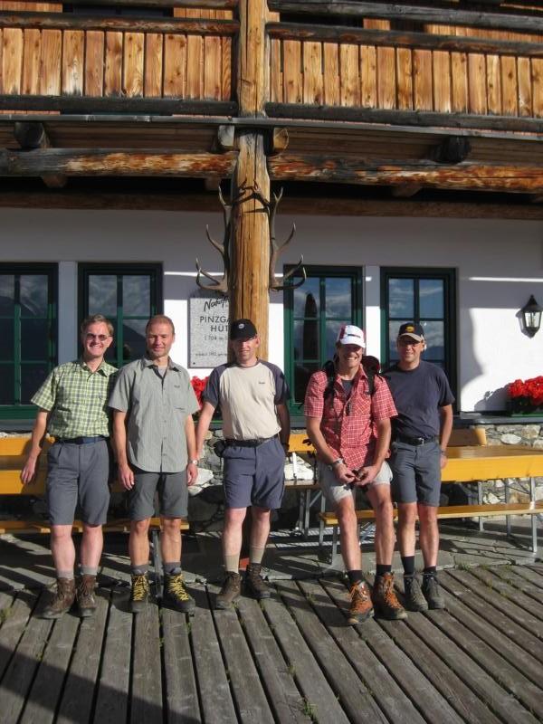 Unsere Gruppe 2014: Burkhardt, Reinhardt, Günter, Manni und Stefan
