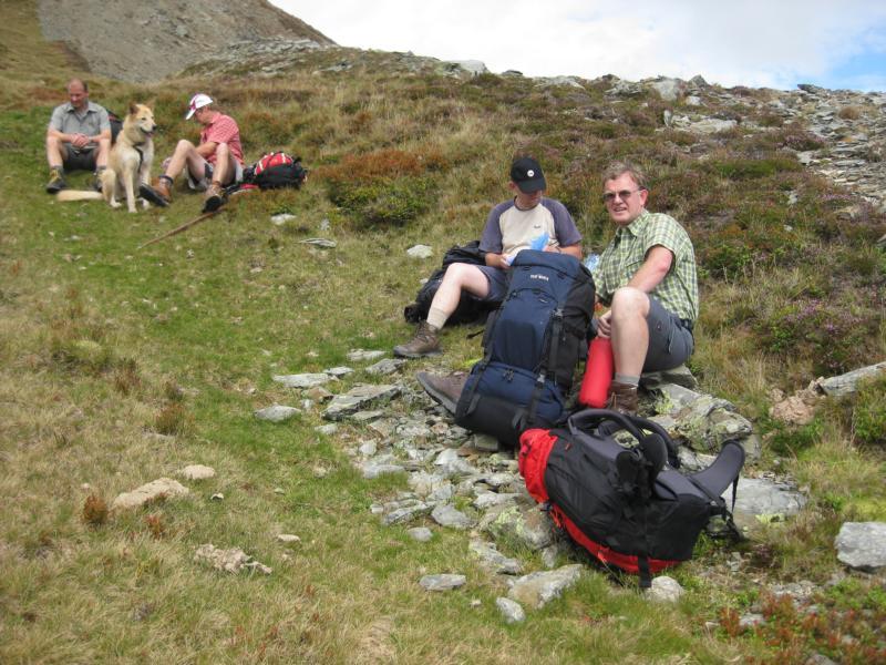 Und weil die Pinzgauer ganz schön lange spazieren, war eine weitere Pause notwendig.