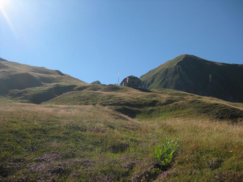 Hoch am Berg liegt unser erstes Etappenziel - die Gleiwitzer Hütte.