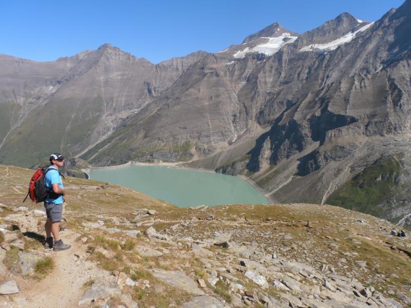 Am 4. Tag unternehmen wir noch eine Tour entlang des Stausees Moserboden-