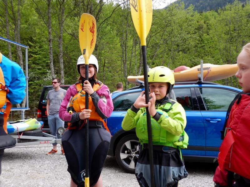 """Paddel hoch = Daumen hoch. Wieder war es eine tolle Garmisch-Fahrt und 2016 hatten wir sogar """"Kaiserwetter""""."""