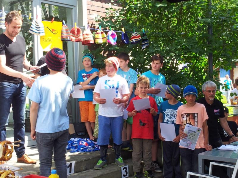 Torge und Mads bei der Siegerehrung der Jungen U14.