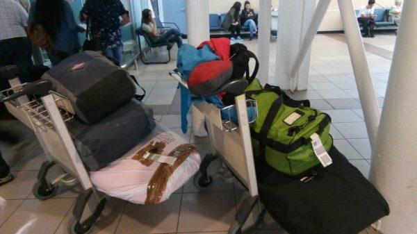 Ankunft am Flughafen in Chile, nach 22 Stunden Reise ging es nun nurnoch einmal über die Anden nach Argentinien...