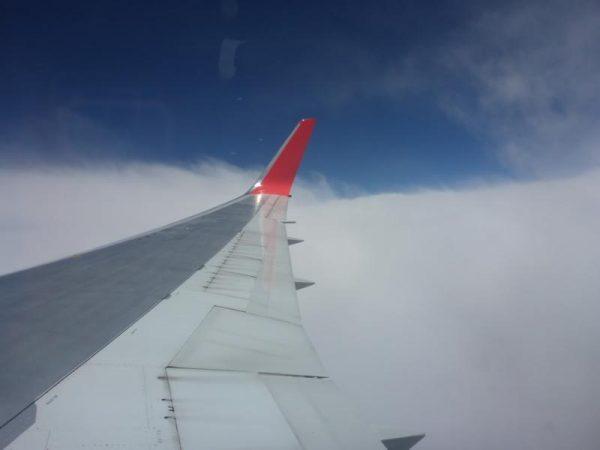 Über den Wolken, viel zu schnell war es zu Ende. Nun gehts zurück ins kalte Deutschland.